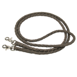 Braided Leather Roping Reins