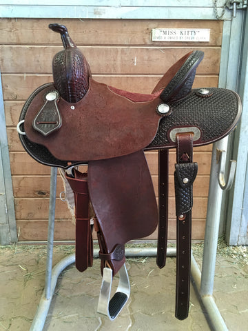 "13.5"" Burns Barrel Saddle ""20 Tree"""