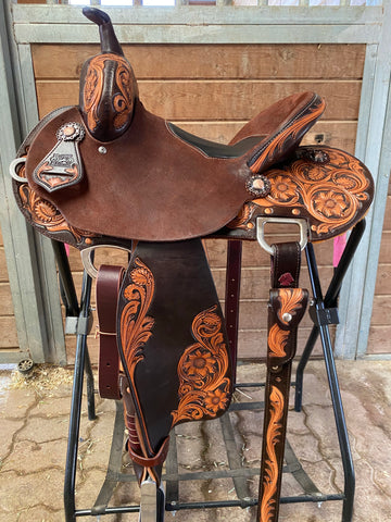 "13.5"" MD 20 Tree Burns Barrel Saddle"