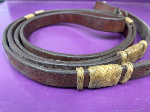 Used Leather Single Rein Rawhide