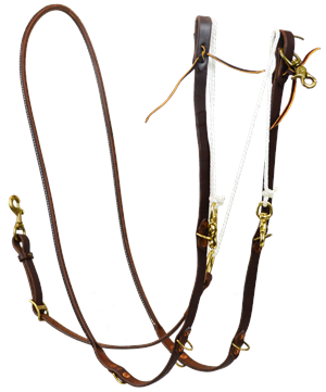 Oiled Rolled Single Rein German Martingale