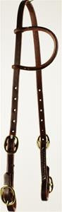 Oiled Single ear Buckle Headstall