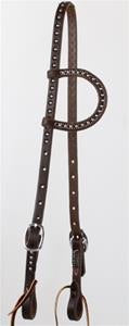 Oiled Single Ear Studded Headstall