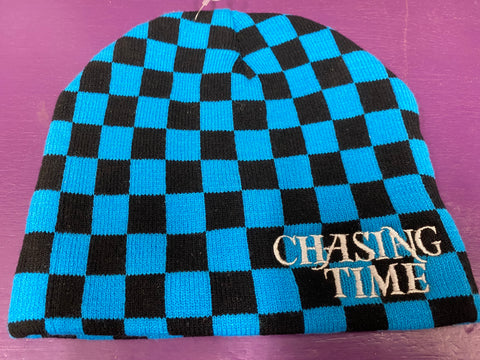 Chasing Time Blue/Black Checkered Beanie