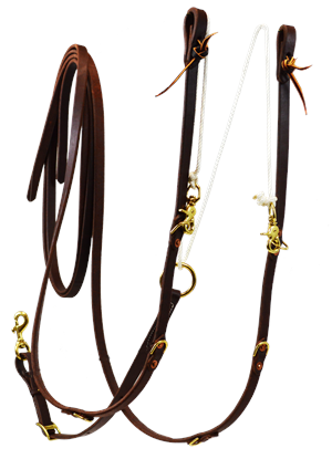 Oiled Split Rein German Martingale
