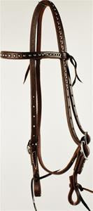 Oiled Studded Browband Headstall