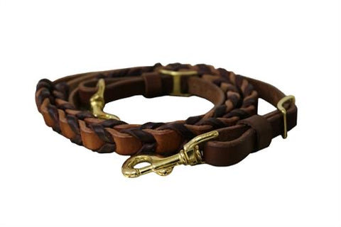 Buttery Soft Leather Laced Reins