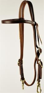 Oiled Browband with Snaps