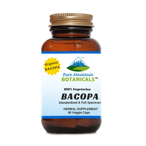 Bacopa Capsules with Organic Bacopa Extract - 90 Kosher Veggie Caps
