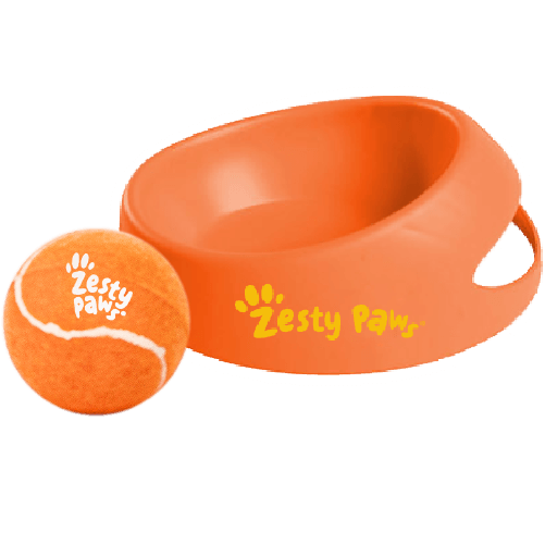 Zesty Paws® Dog Bowl & Tennis Ball: