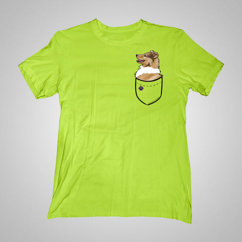 Pocket Puppiez Collie t-shirt
