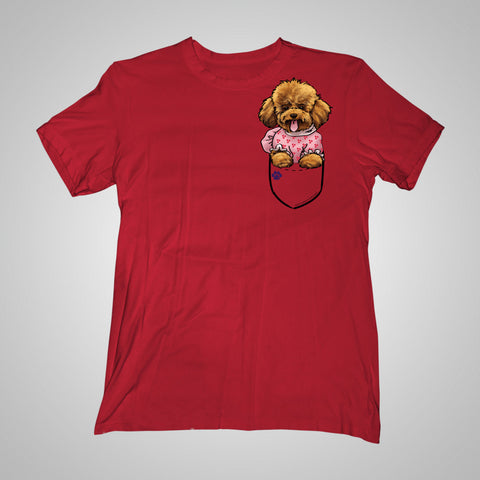 Pocket Puppiez Poodle t-shirt