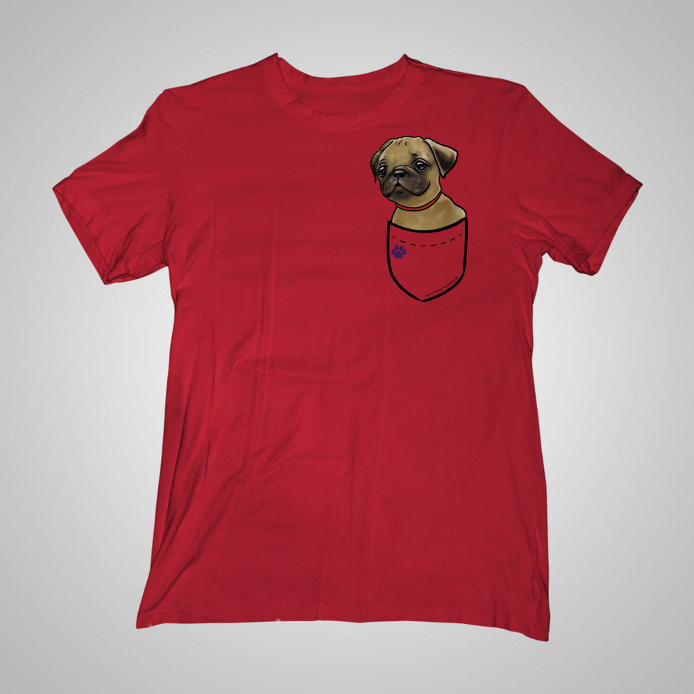 Pocket Puppiez Pug Fawn t-shirt