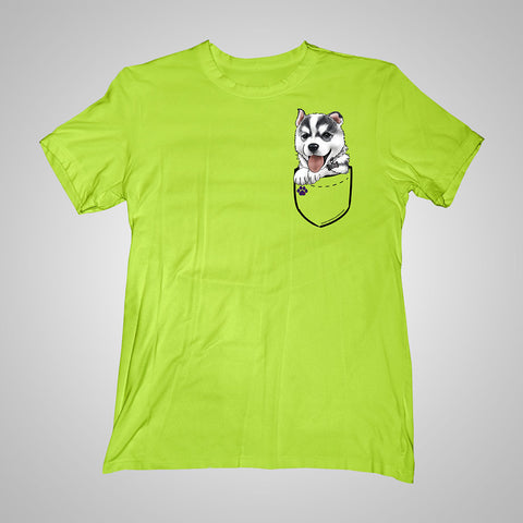 Pocket Puppiez Husky t-shirt