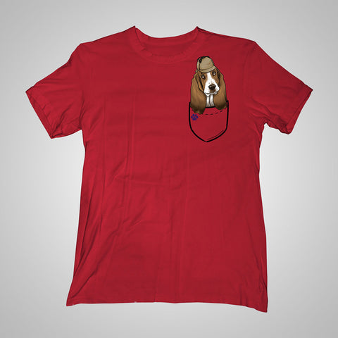 Pocket Puppiez Basset t-shirt