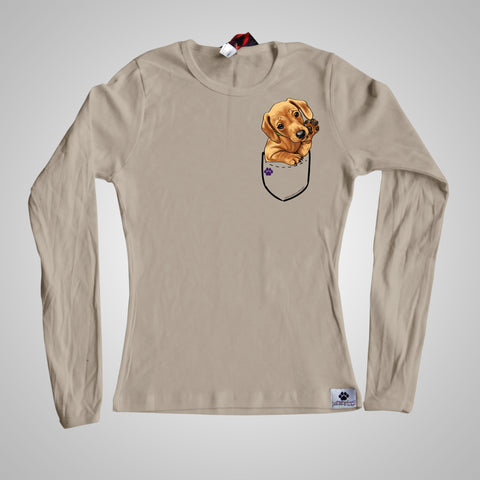 Long Sleeves Pocket Puppiez Dachshund