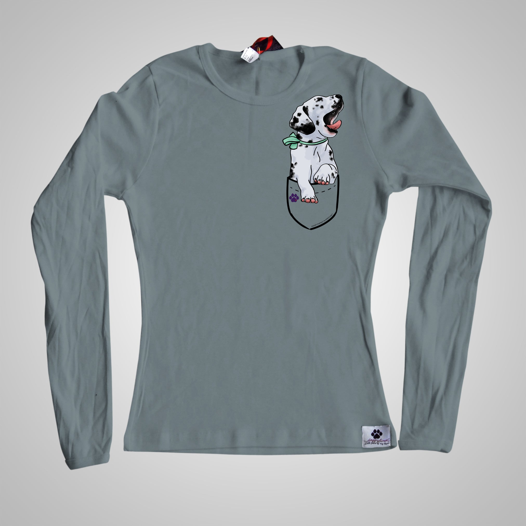 Long Sleeves Pocket Puppiez Dalmatian