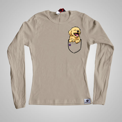 Long Sleeves Pocket Puppiez Golden Retriever