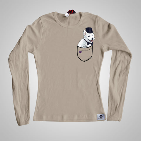 Long Sleeves Pocket Puppiez Westie