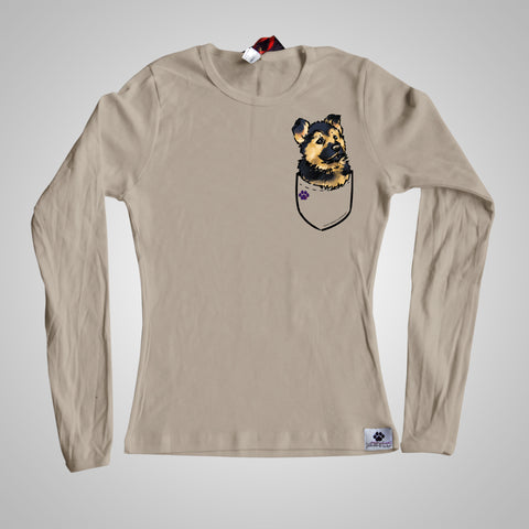 Long Sleeves Pocket Puppiez German Shepherd
