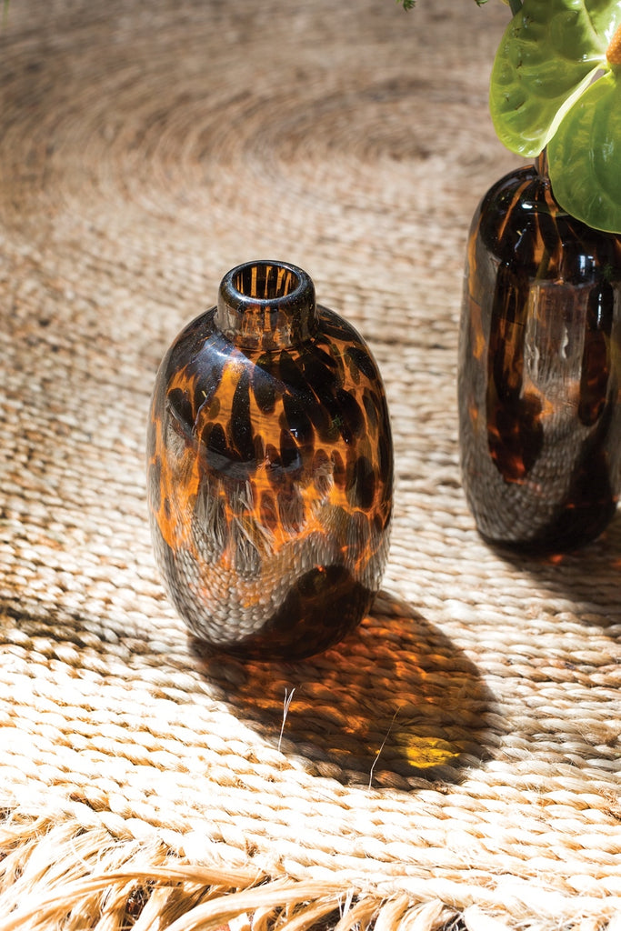 Chic Animal Print Glass Budvase - 3 Size Options