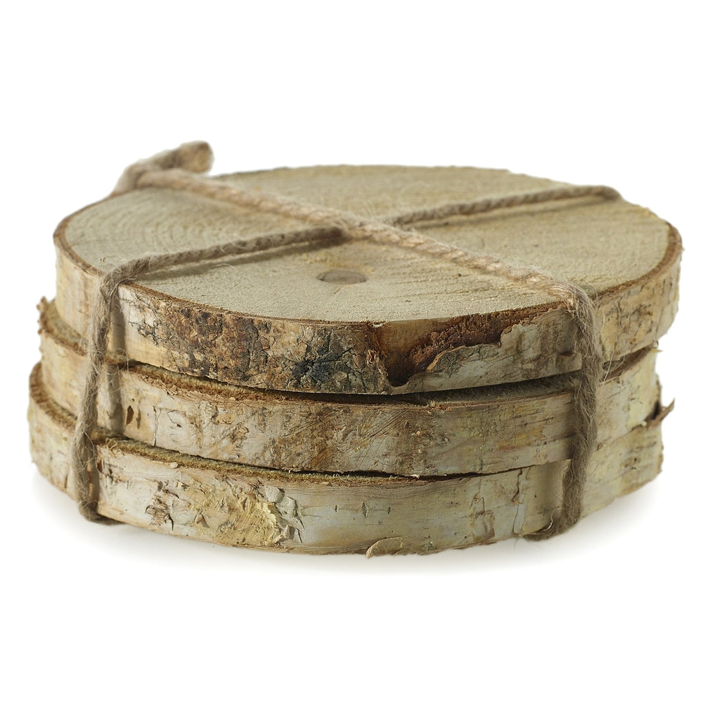 "6"" Natural Birch Coasters - Set of 3"