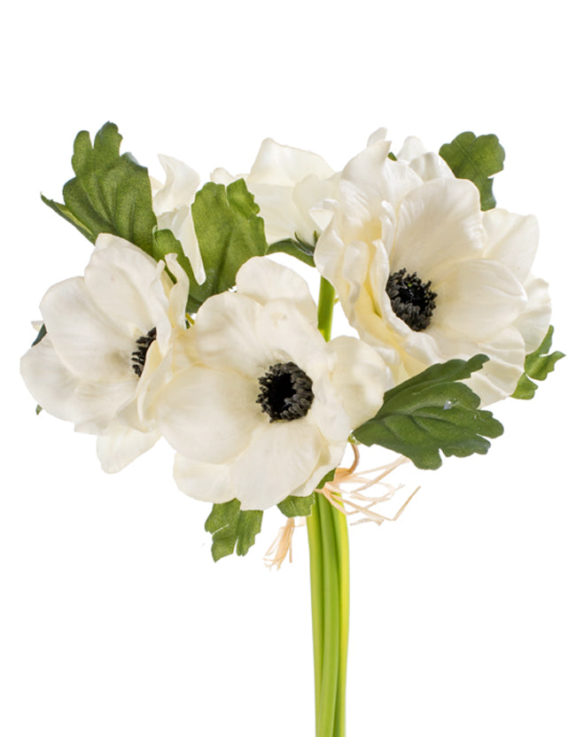 The Perfect Poppy Anemone Real Touch Forever Flower Bundle x5 - Cream