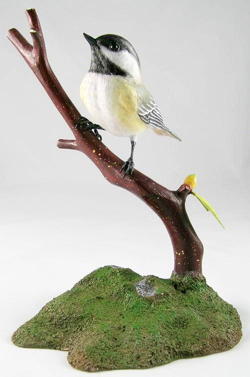 Black-capped Chickadee#4 - Hand Carved Wooden Bird