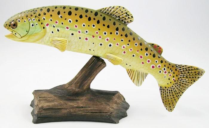 Brown Trout - Hand Carved Wooden Trout