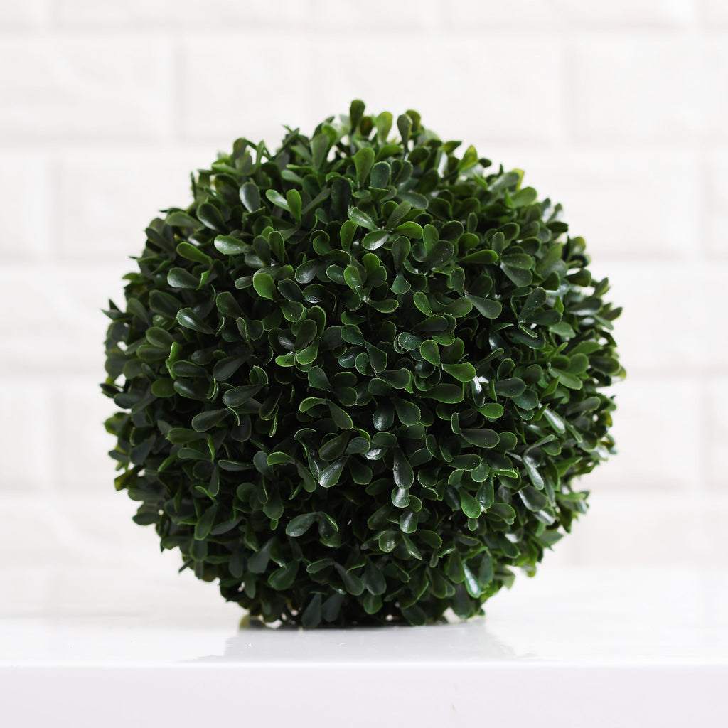 Classic Green Boxwood Orb Ball Decor with Dough Bowl Option