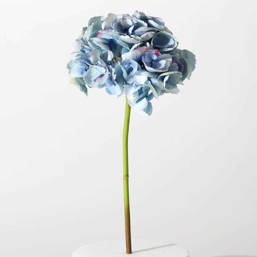 The Perfect Hydrangea Light Blue ~ Forever Floral Silk 19 Inch Stem