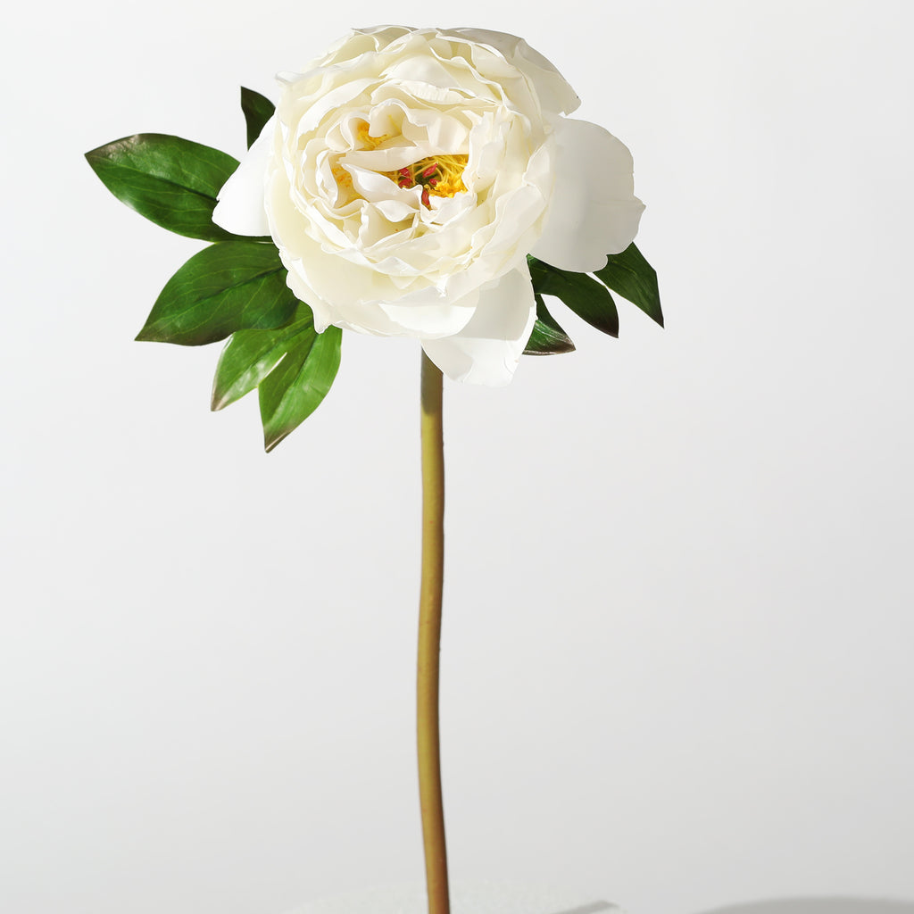 "The Perfect Peony Real Touch Forever Flower 22"" Stem - Cream"