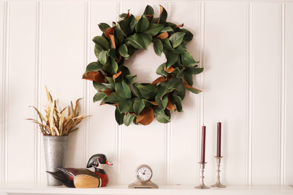 Classic Real Touch Magnolia Leaf Everyday Wreath 30""