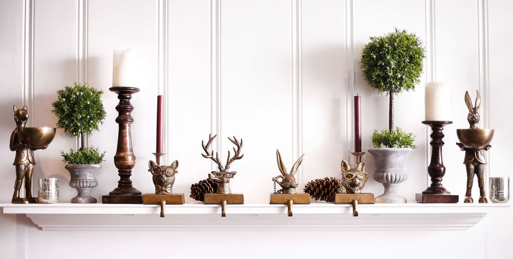Eric + Eloise + Frankie + Louie Bronzed Aluminum Stocking Holders