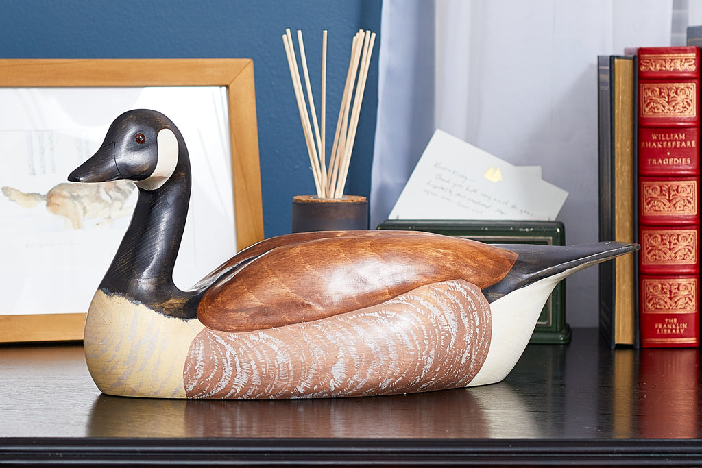 Hand Carved Canadian Goose Premier Wooden Decorative Decoy