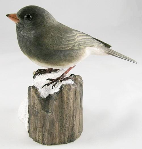 Dark-eyed Junco#3 - Hand Carved Wooden Bird