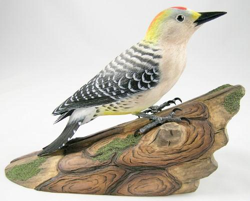 Golden-fronted Woodpecker - Hand Carved Wooden Bird