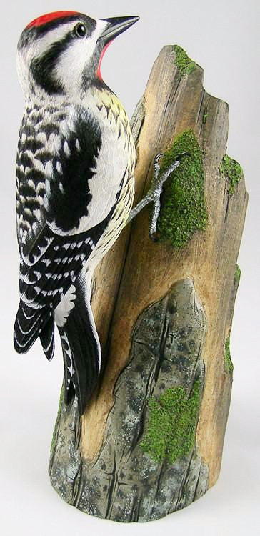 Bird Sculpture - Yellow-Bellied Sapsucker - Hand Carved Wooden Bird