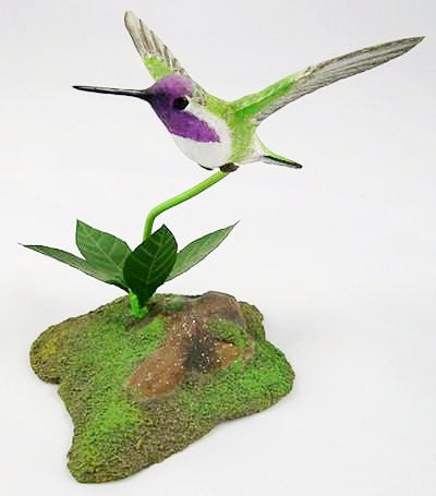 Costa's Hummingbird - Hand Carved Birds