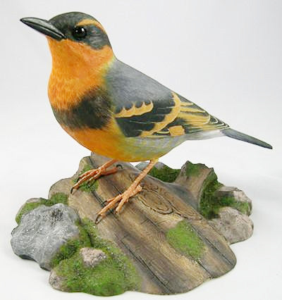 Varied Thrush - Hand Carved Birds