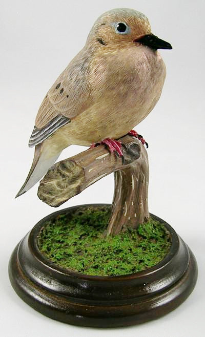 Mourning Dove (1/2 Size) - Hand Carved Birds