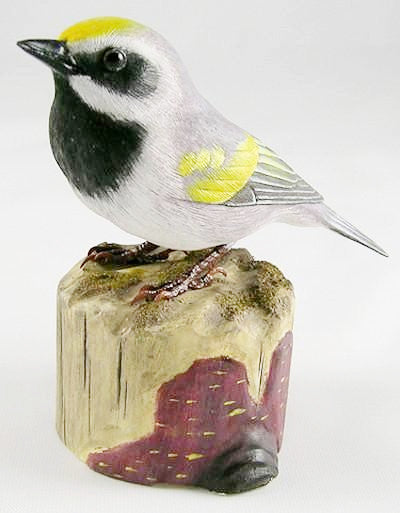 Golden Winged Warbler - Hand Carved Birds