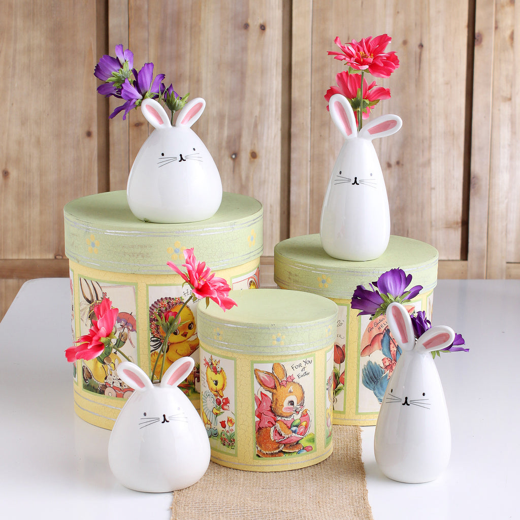 Tall + Round Nani Bunny Glazed Ceramic Bud Vase Collection