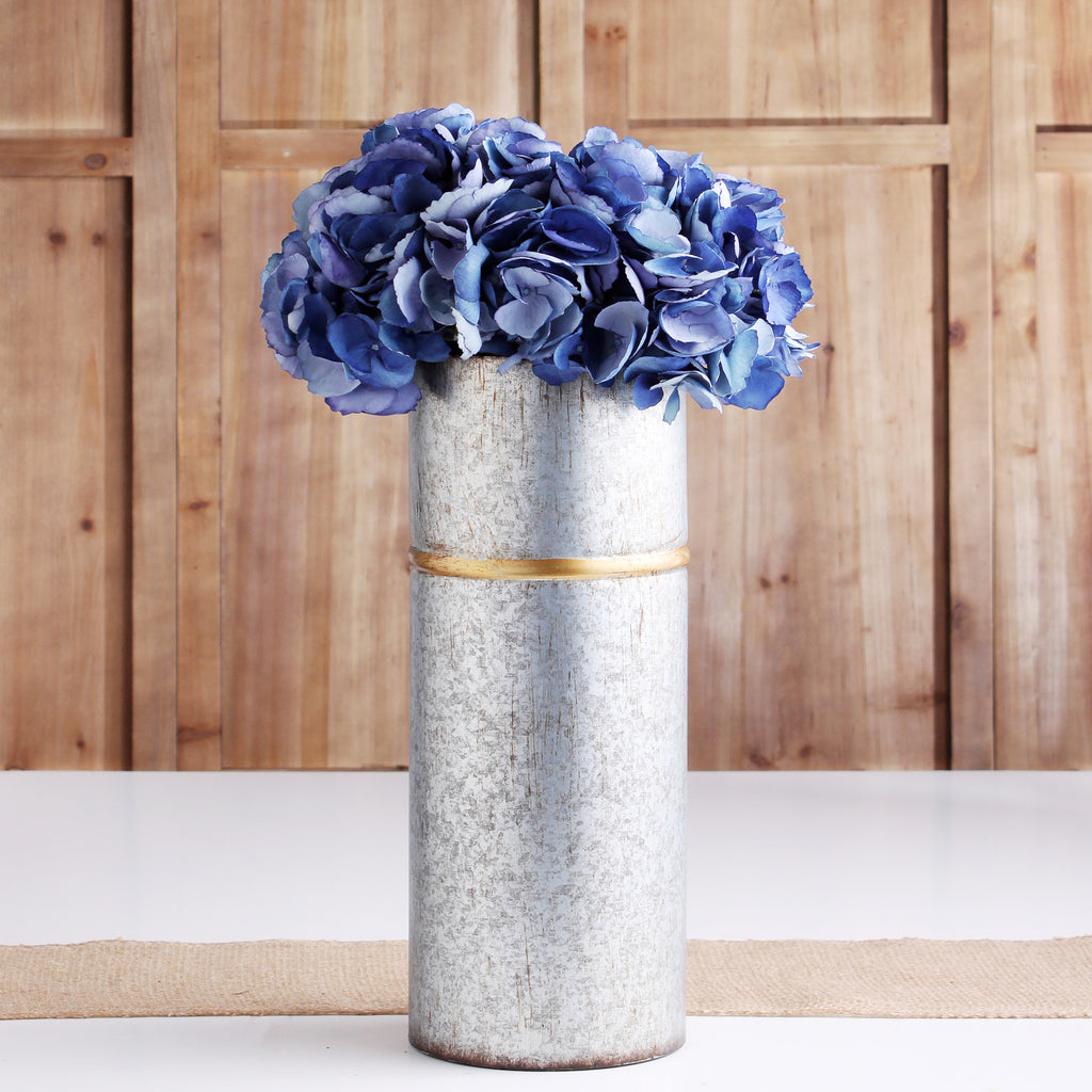 The Perfect Hydrangea Dark Blue ~ Forever Floral Silk 19 Inch Stem/Bundle