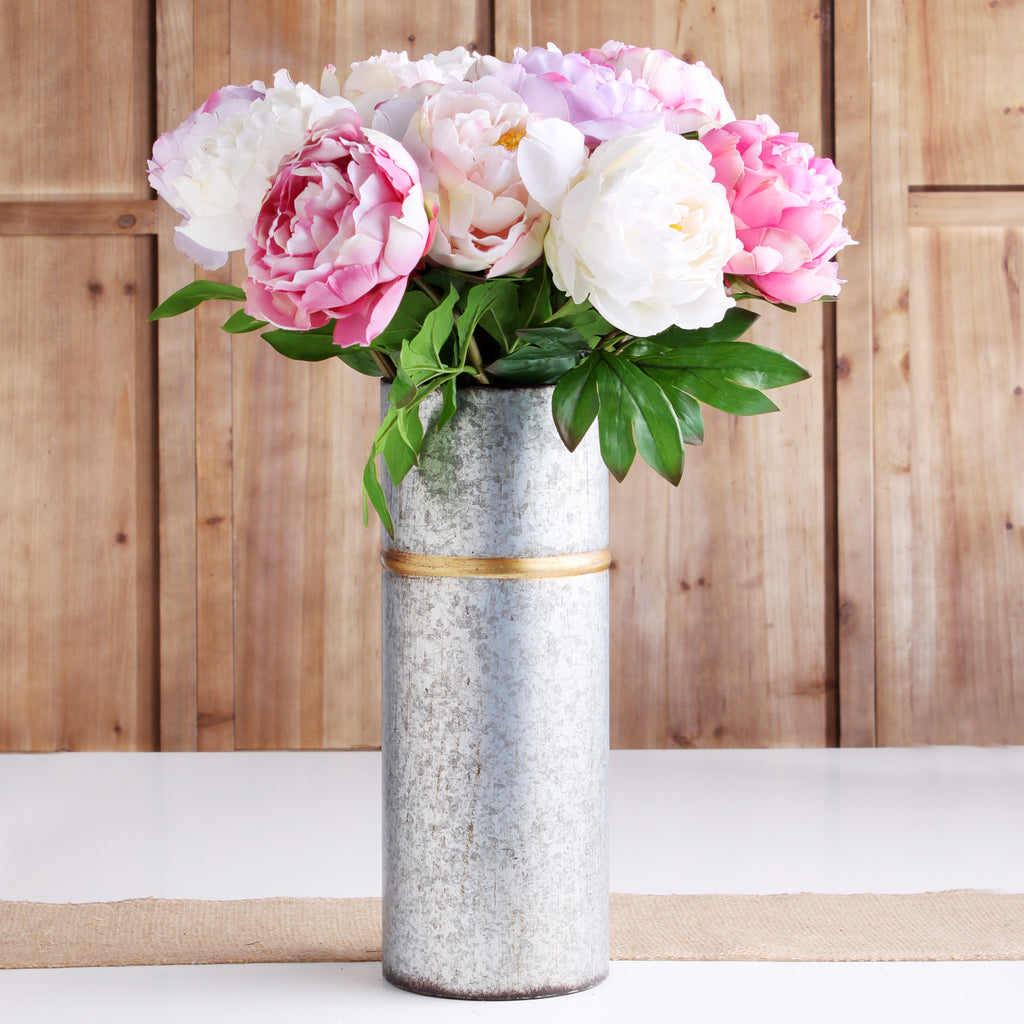 "The Perfect Peony Real Touch Forever Flower 22"" Stem - Blush"