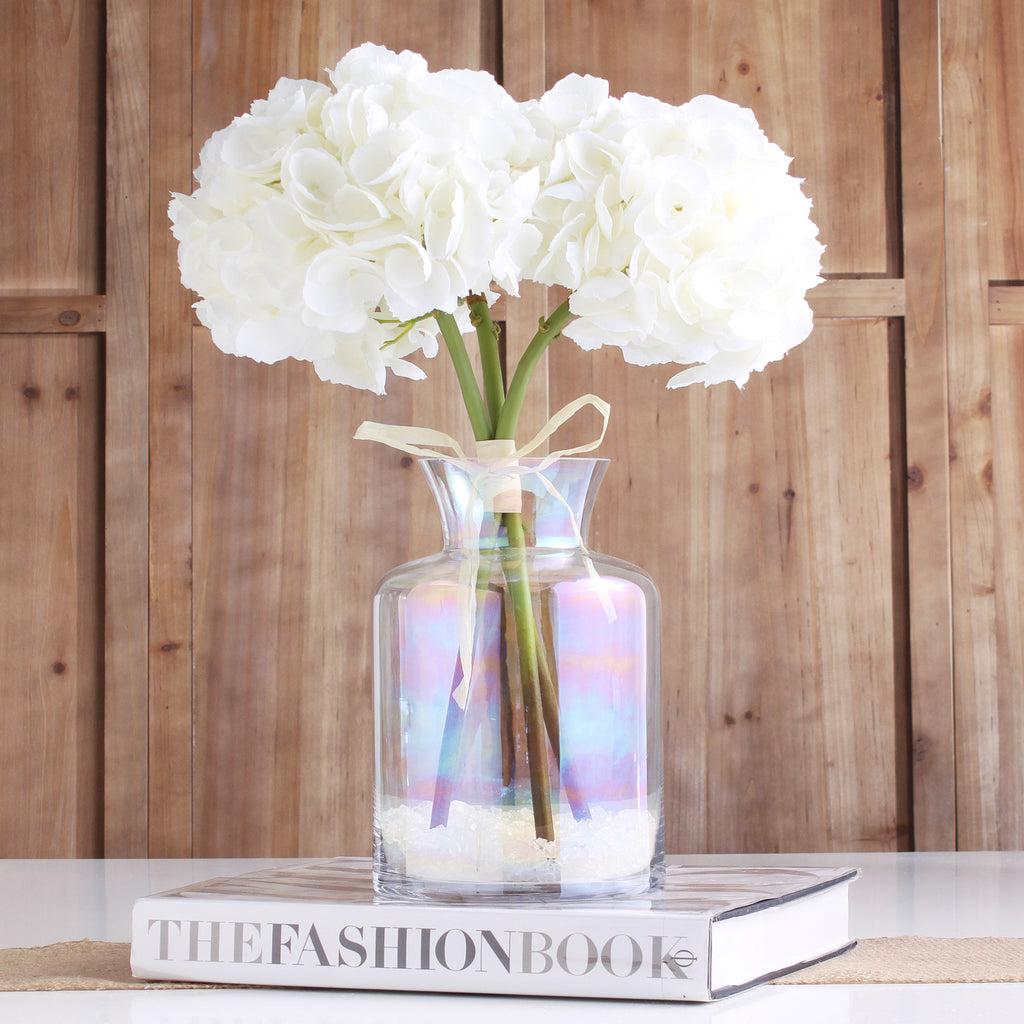 The Perfect Hydrangea White ~ Forever Floral Silk 19 Inch Stem/Bundle