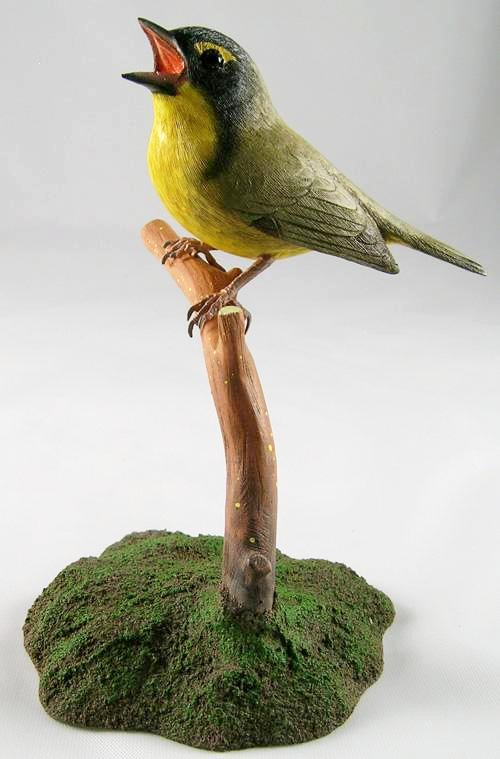 Kentucky Warbler - Hand Carved Wooden Bird