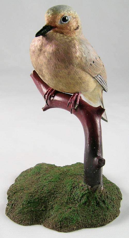 (1/2 Size) Mourning Dove#2 - Hand Carved Wooden Bird
