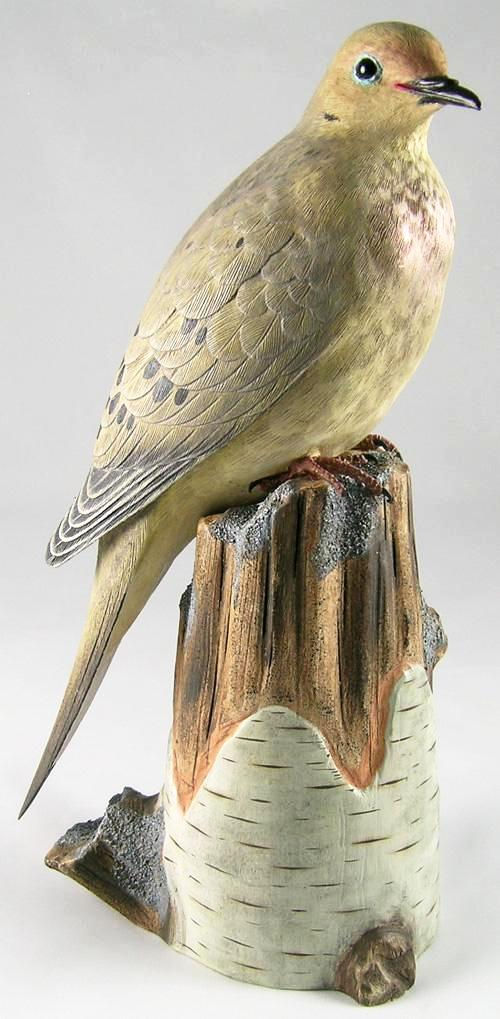 Mourning Dove#3 - Hand Carved Wooden Bird