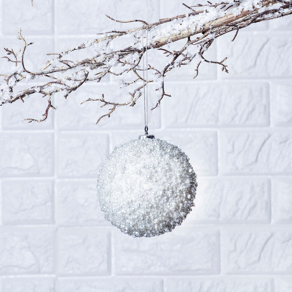 Pearlized Holiday Ball Christmas Ornament